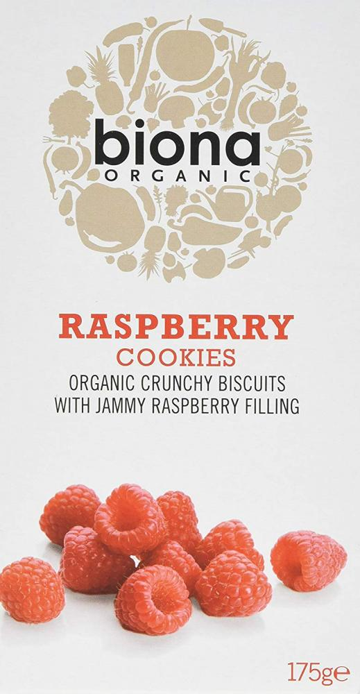 Biona Organic Raspberry Filled Cookies 175g