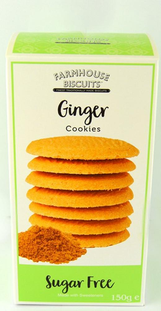 Farmhouse Biscuits Sugar Free Ginger Cookies 150g