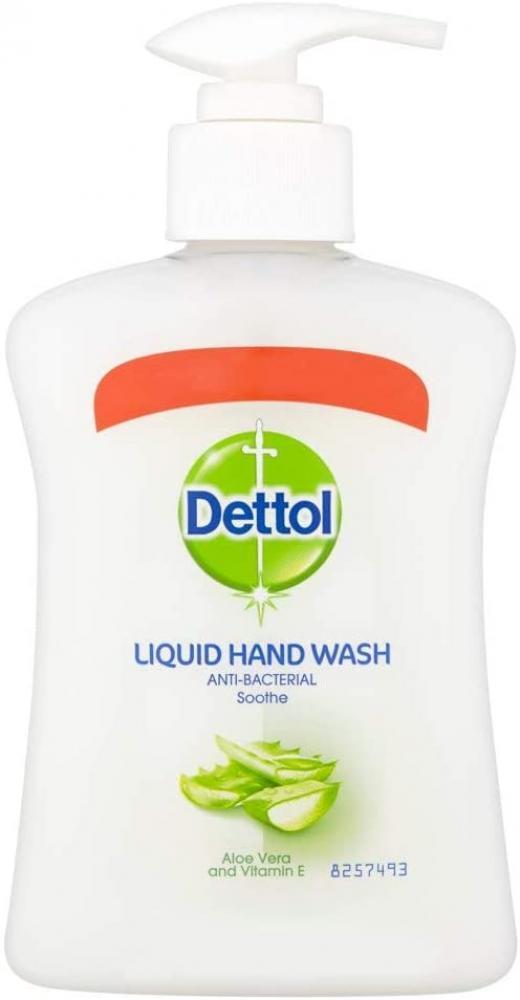 Dettol Antibacterial Hand Wash Soap Aloe Vera and Vitamin E 250ml