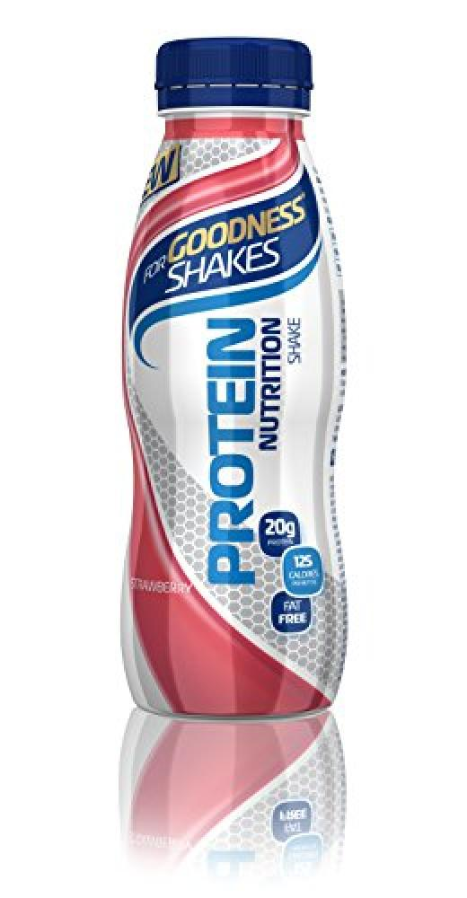 SALE  For Goodness Shakes Strawberry Protein Nutrition Drink 315ml