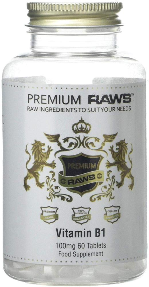 Premium Raws Vitamin B1 60 Tablets