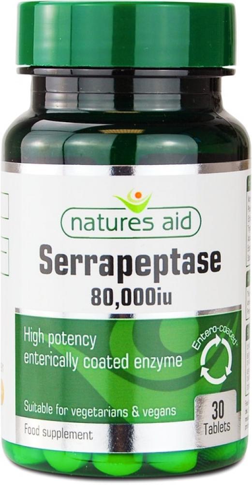 Natures Aid Serrapeptase 80000 iu 30 Tablets