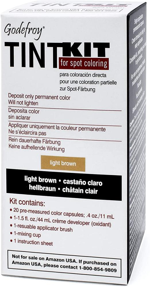 Godefroy Tint Kit Light Brown Eyebrow Dye for Professionals (Light Brown)