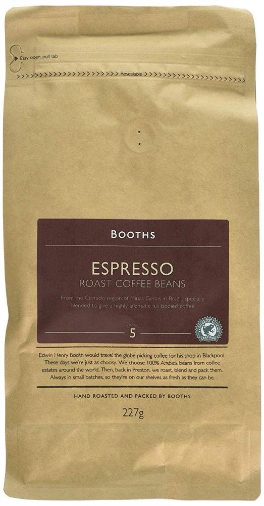 Booths Espresso Roast Coffee Beans 227 g