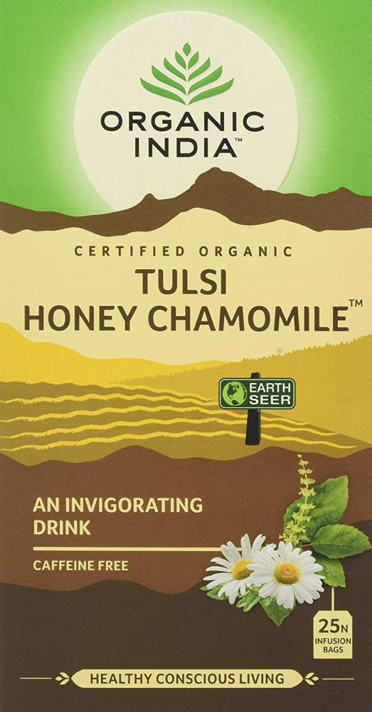 Organic India Tulsi Honey Chamomile Tea 25 Infusion Bags
