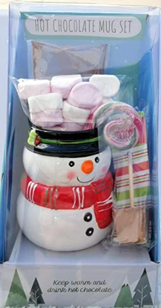 Snowman Hot Chocolate Mug Set