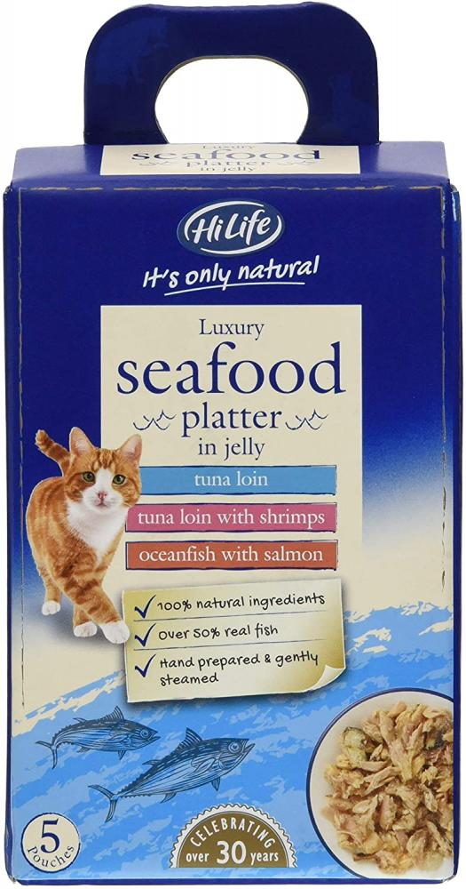 Hi Life Seafood Platter in Jelly Cat Food 5 pouches