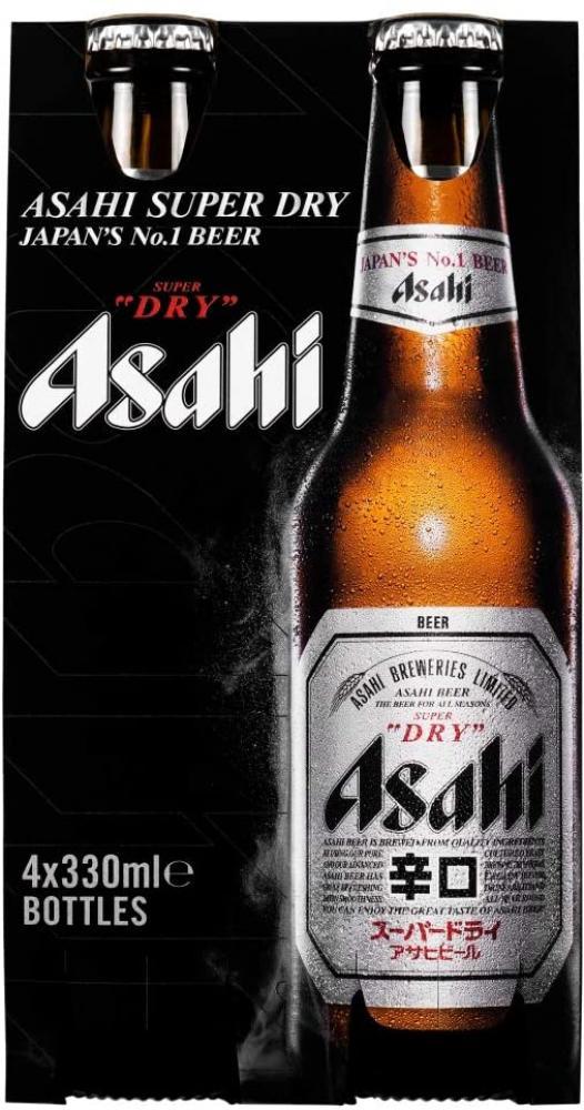 Asahi Breweries Super Dry Beer 4 x 330ml