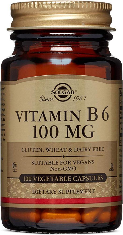 Solgar Vitamin B6 100 mg 100 Capsules