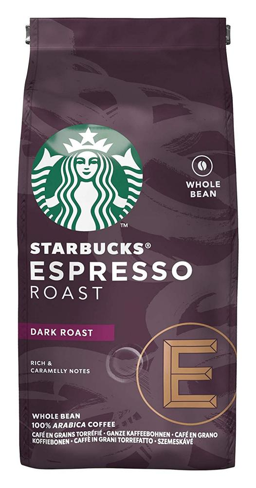 Starbucks Espresso Roast Dark Roast Whole Bean Coffee 200g