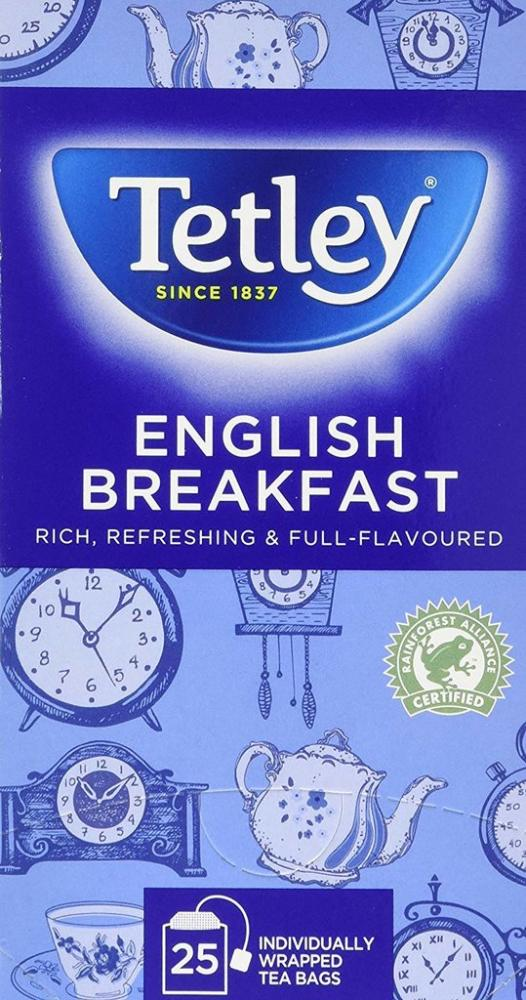 Tetley English Breakfast 25 Teabags 50g