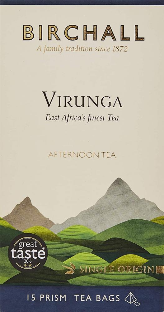 Birchall Virunga Afternoon Tea Prism Tea Bags 15