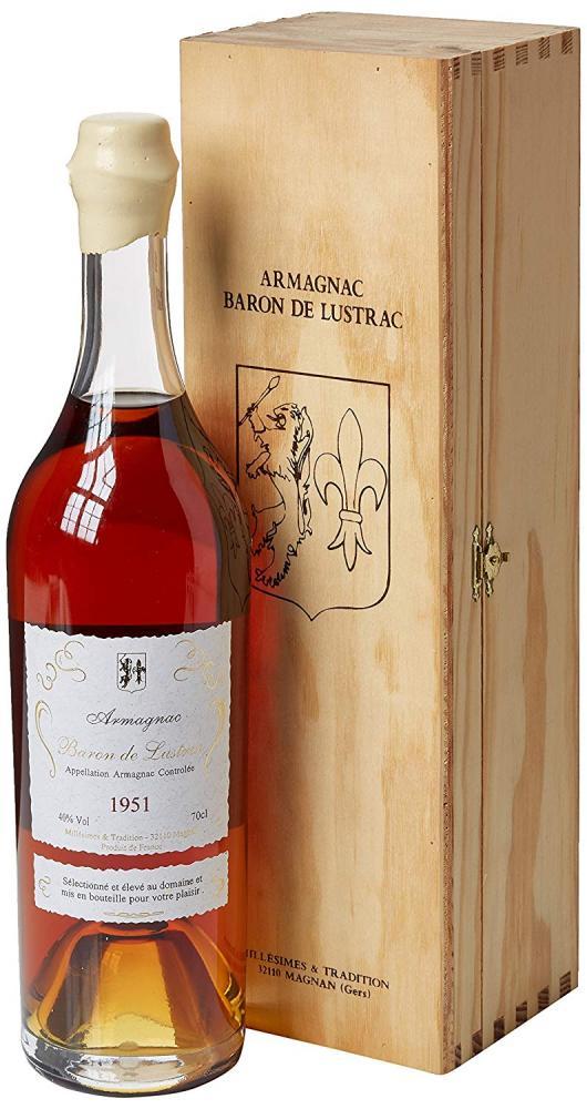 Baron de Lustrac 1951 Vintage Armagnac 70cl