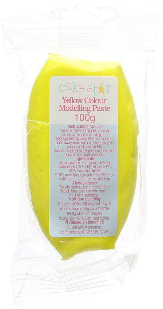 Cake Star Yellow Modelling Paste 100 g