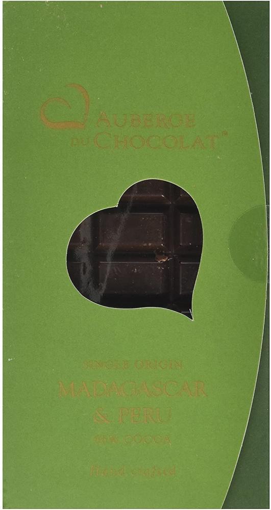 Auberge du Chocolate Single Origin Madagascan and Peru Chocolate Bar 66 Percent Cocoa 90 g