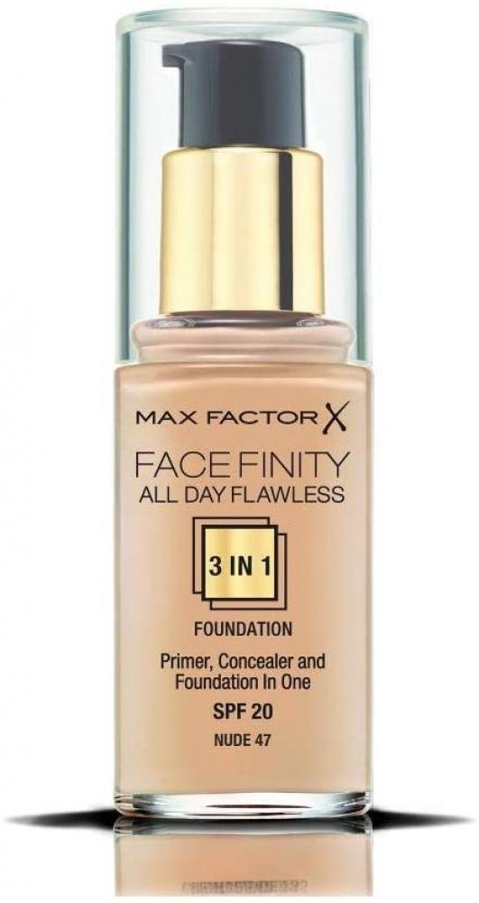 Max Factor Facefinity 3in1 All Day Flawless Foundation 47 Nude 30ml