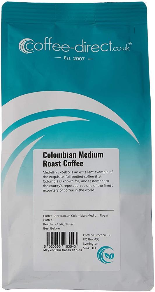 SALE  Coffee Direct Colombian Medium Roast Coffee Filter Grind 454g