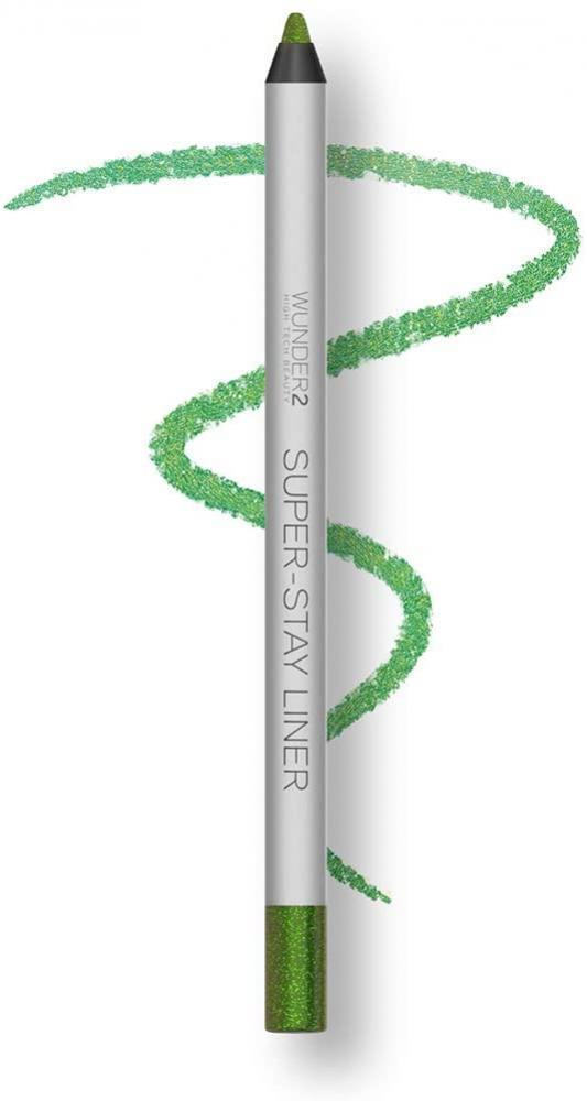 WUNDER2 SUPER-STAY LINER Makeup Eyeliner Pencil Long Lasting Waterproof Eye Liner Color Green Apple Glitter 1.20g