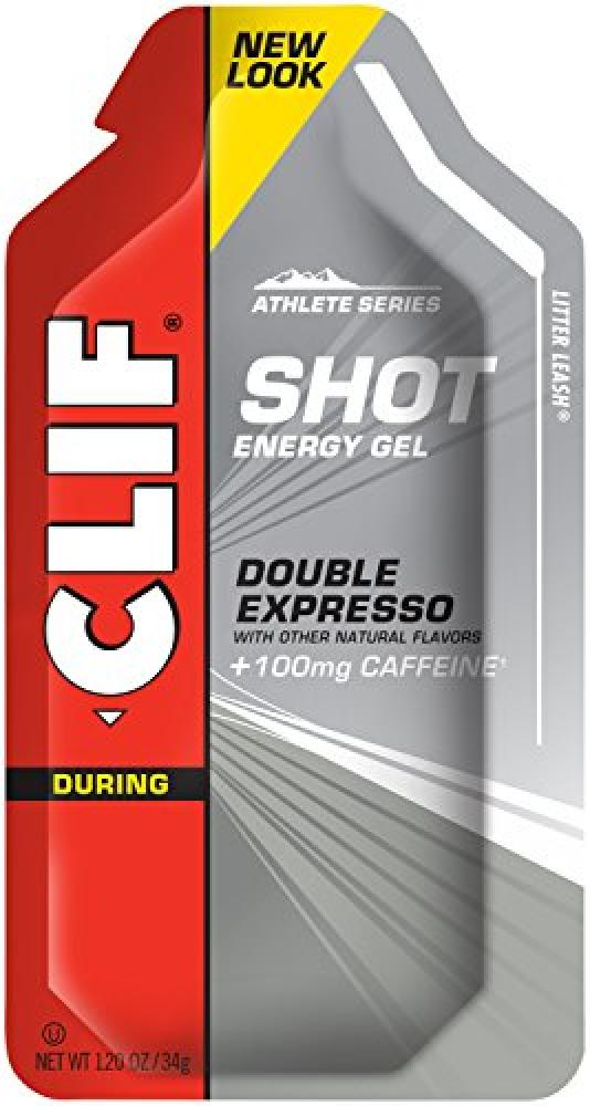 Clif Bar Shot Energy Gel Double Expresso Flavour with Caffeine 34 g