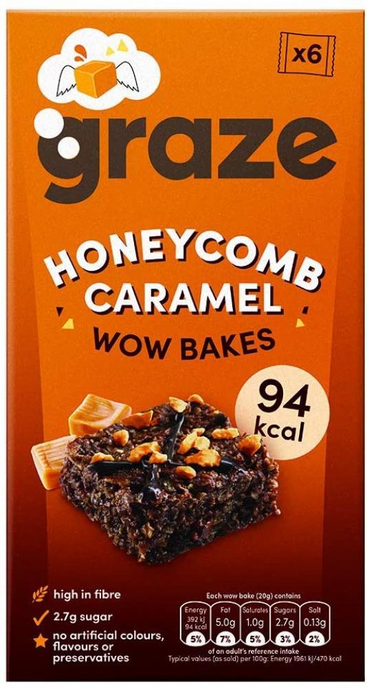 Graze Wow Bakes Honeycomb Caramel 6x20g