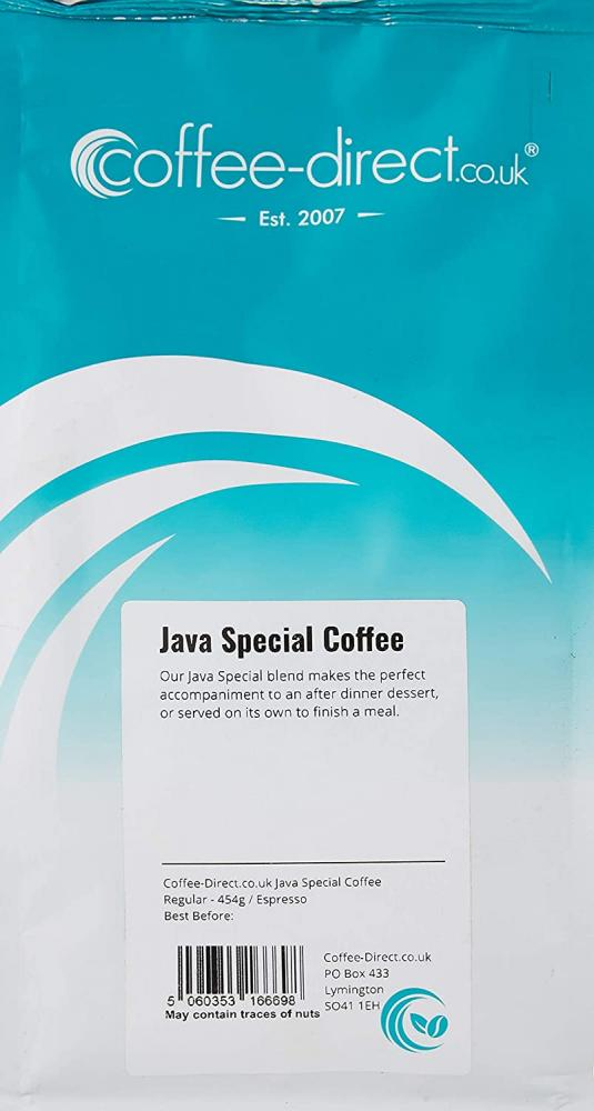 Coffee Direct Java Special Coffee Espresso Grind 454g