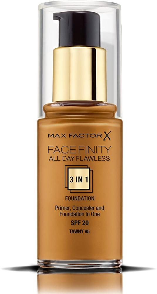Max Factor Facefinity 3-in-1 All Day Flawless Foundation SPF 20 Tawny 95 30 ml