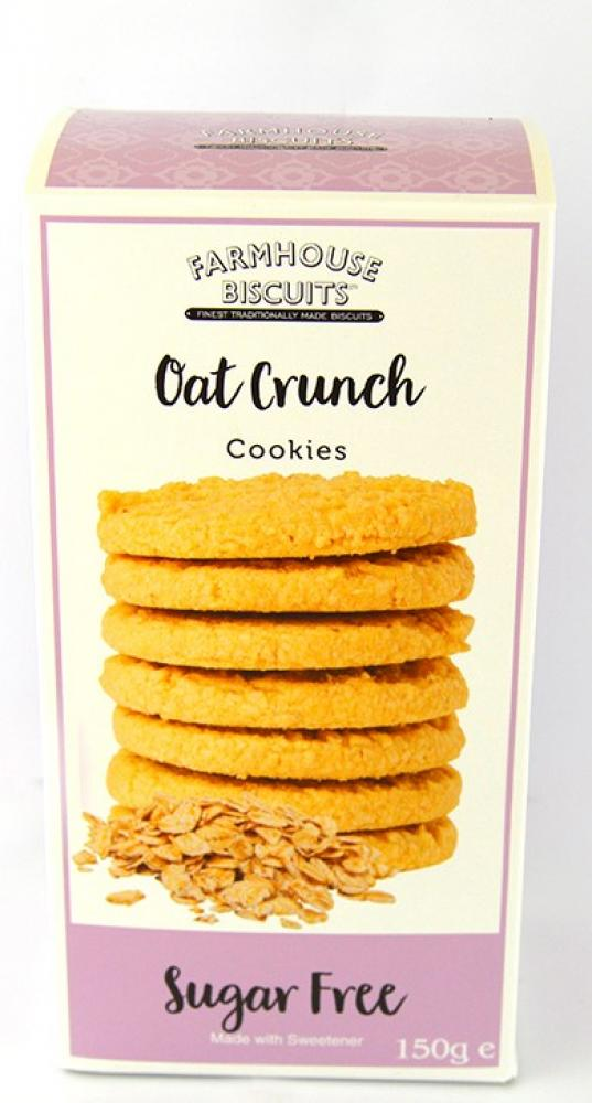 Farmhouse Biscuits Sugar Free Oat Crunch Cookies 150g
