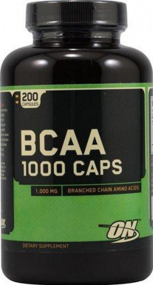 Optimum Nutrition Mega Size BCAA 1000 Caps 200 Capsules