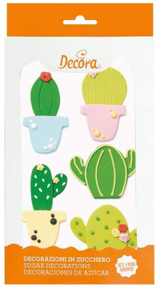 Bakery Sugar Decorations Cactus 39 Pcs