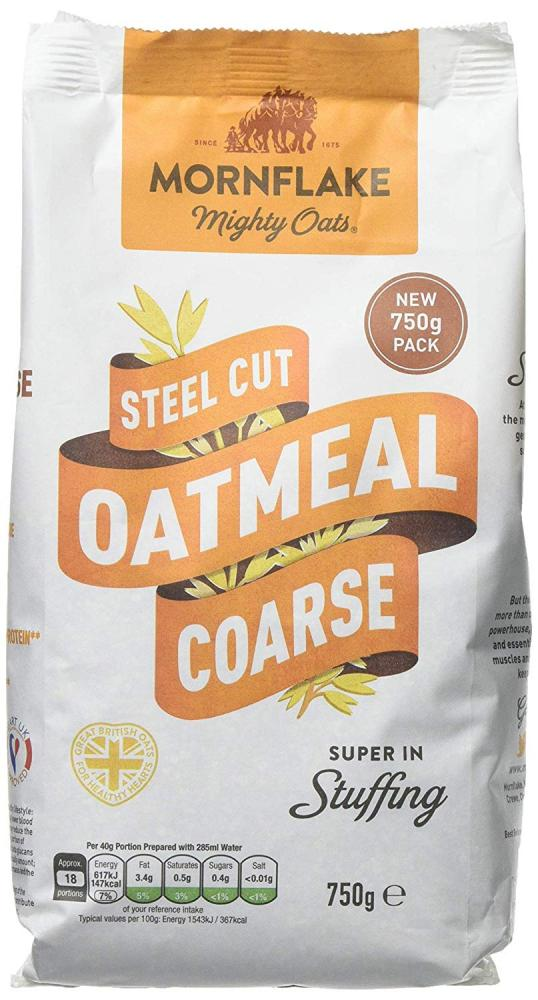 Mornflake Mighty Oats Steel Cut Coarse Oatmeal 750g