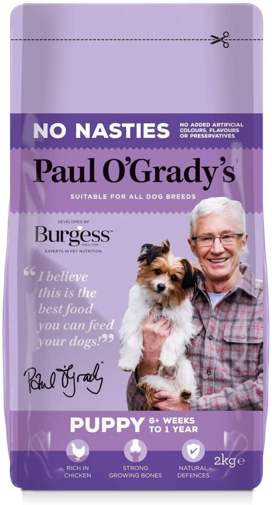 SALE  Paul O Grady No Nasties Puppy Dog Food Rich in Chicken 2 Kg