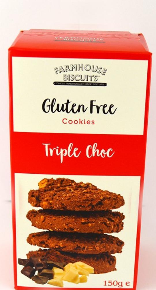 Farmhouse Biscuits Gluten Free Triple Choc Cookies 150g