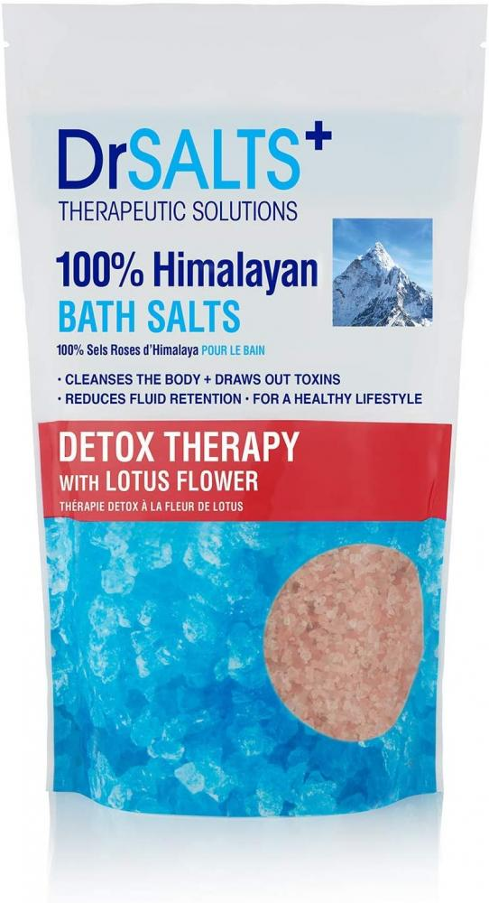 Dr Salts Himalayan Bath Salts Detox Therapy with Lotus Flower 1kg