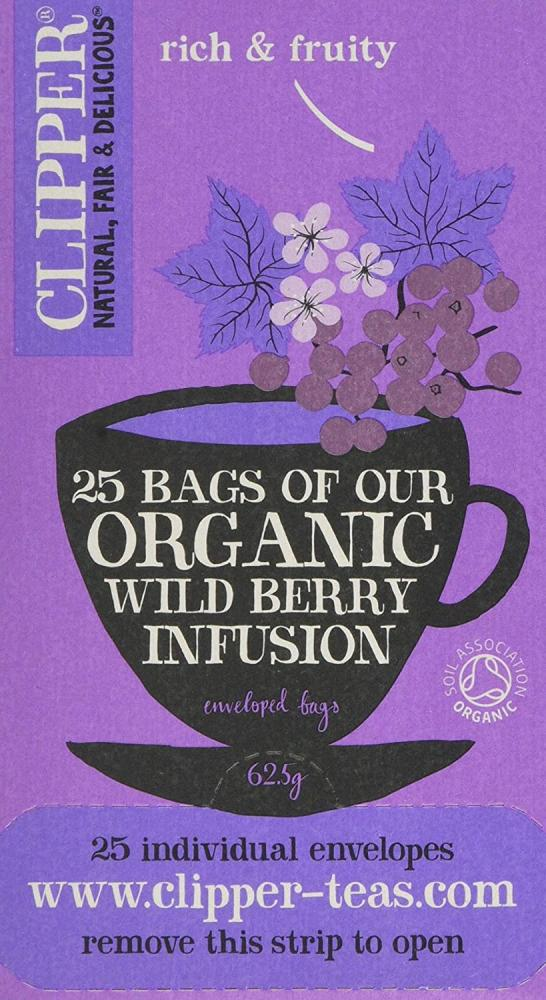 Clipper Organic Infusion Wild Berry Infusion 25 teabags