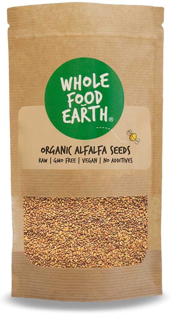 Whole Food Earth Organic Alfalfa Seeds - Raw 500 g