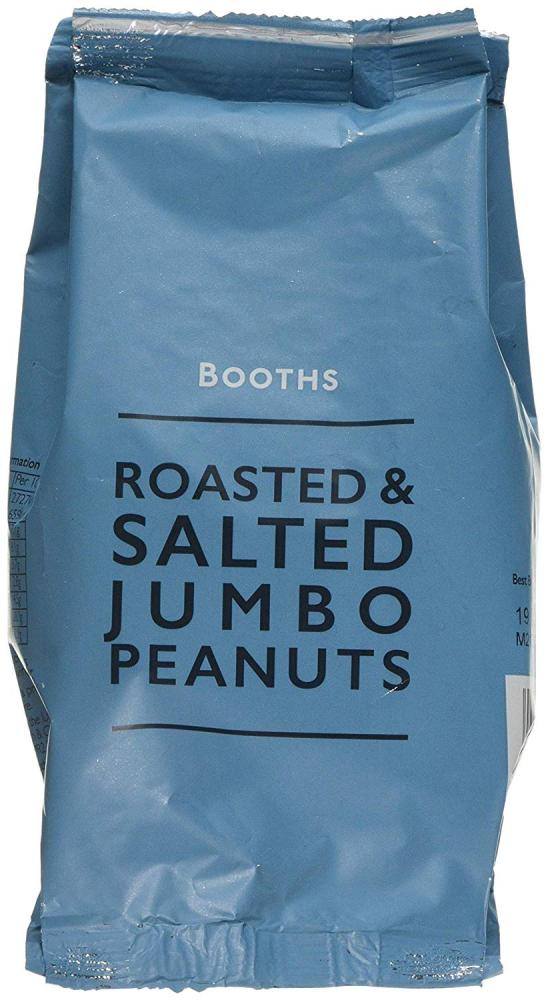 Booths Roasted and Salted Jumbo Peanuts 200g