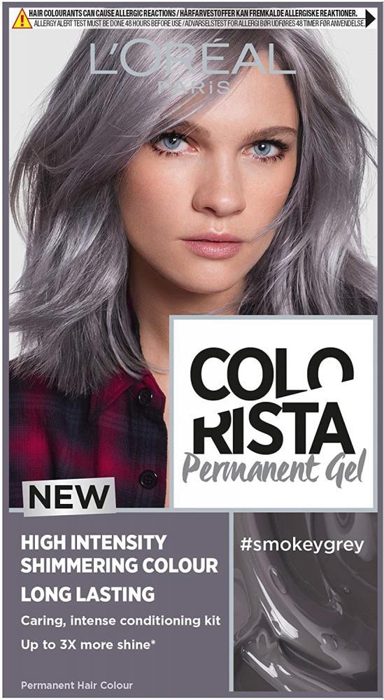 Loreal Paris Colorista Smokey Grey Permanent Hair Dye Gel Long-Lasting Permanent Hair Colour