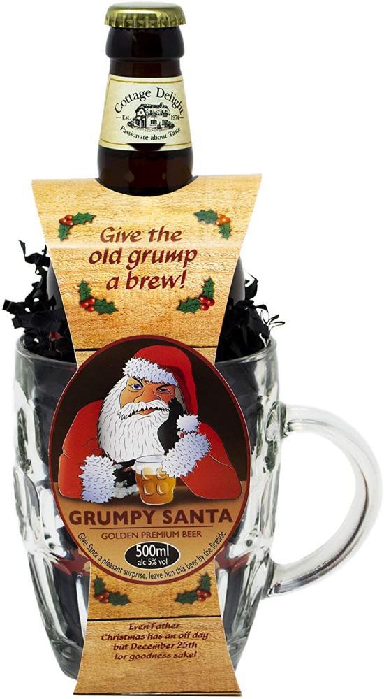 Cottage Delight Grumpy Santa With Glass Tankard