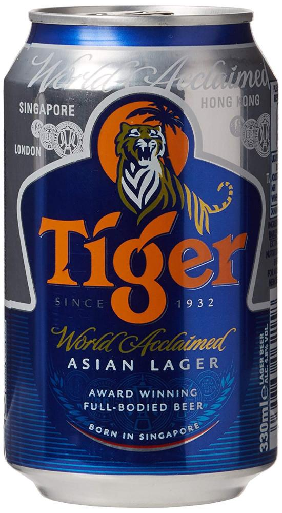 Tiger Lager Can Beer 330ml