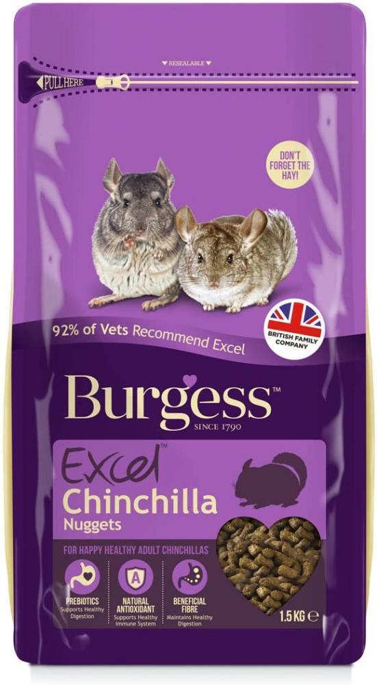 Burgess Pet Care Excel Chincilla Nuggets 1.5kg