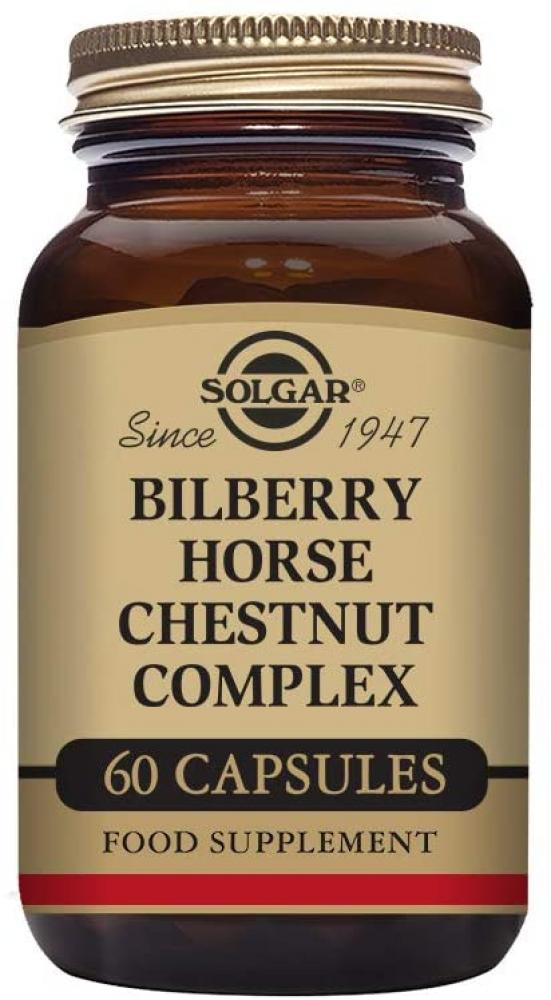 Solgar Bilberry Horse Chestnut Complex Vegetable Capsules 60 capsules