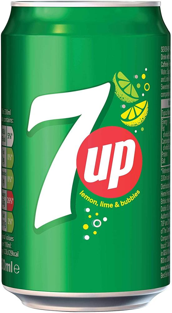 7up Sparkling Lemon and Lime Drink Can 330ml