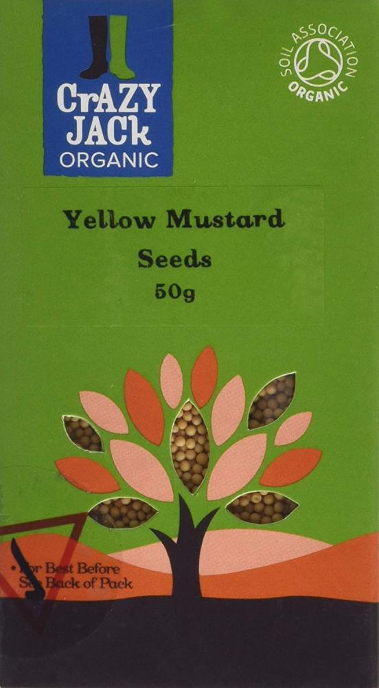 Crazy Jack Organic Yellow Mustard Seed 50 g