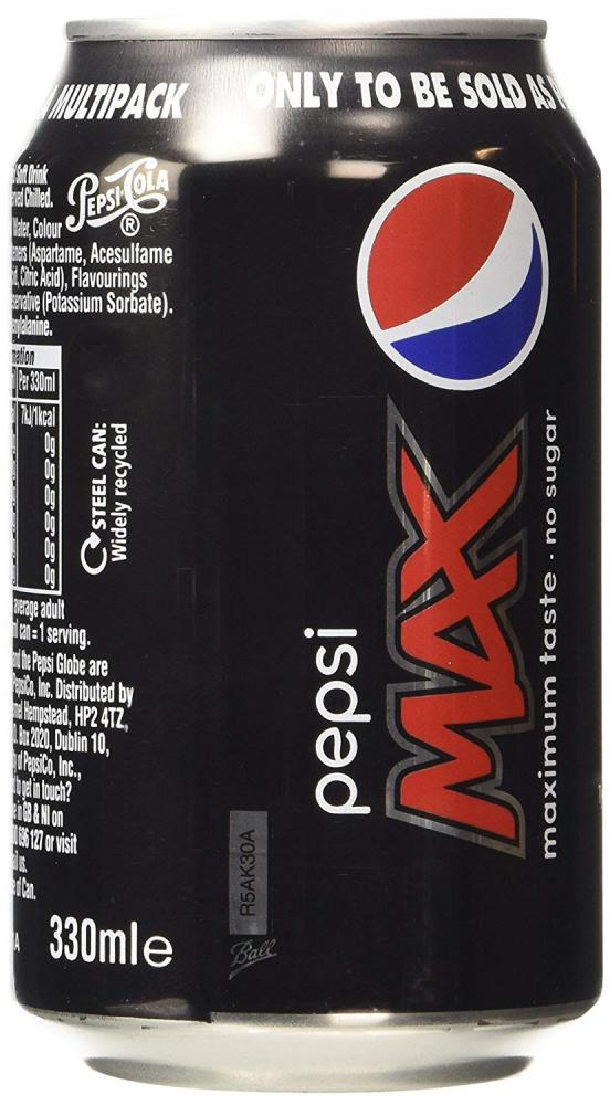 Pepsi Max No Sugar 330 ml