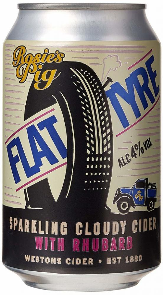 Rosies Pig Flat Tyre Cloudy Cider with Rhubarb 330 ml