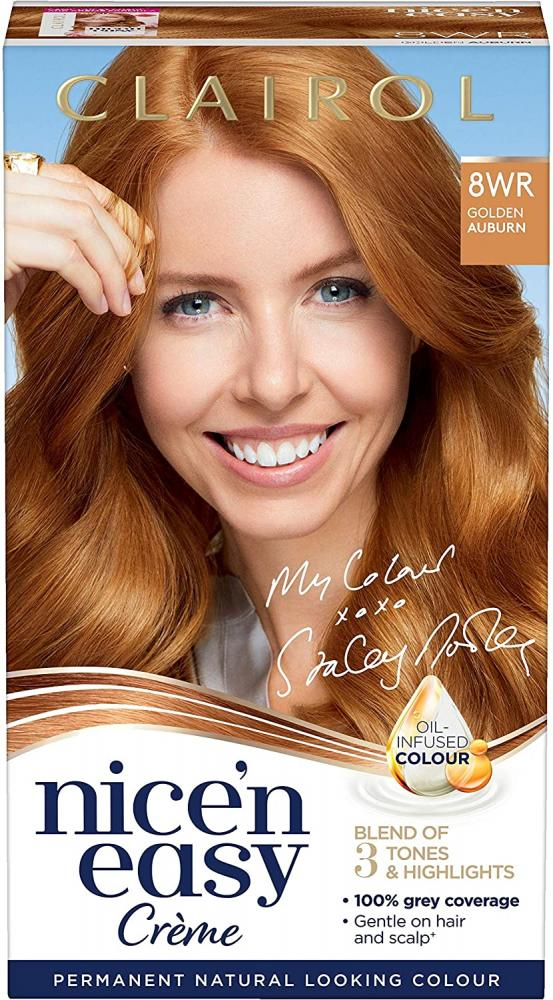 Clairol Nicen Easy 8WR Golden Auburn Hair Color Kit
