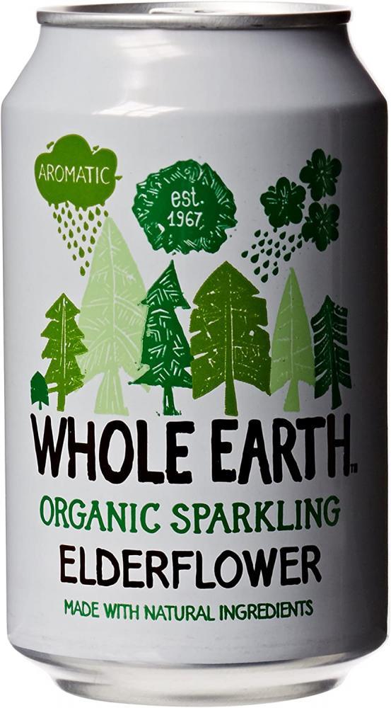 Whole Earth Organic Sparkling Elderflower 330ml