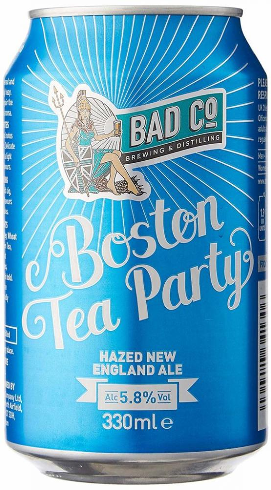 Bad Co Boston Tea Party Hazed New England Ale Can 330ml