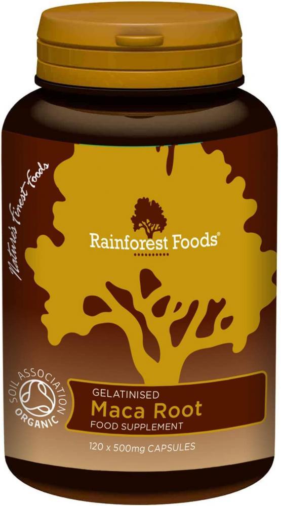 Rainforest Foods Gelatinised Maca Root 120 x 500mg caps
