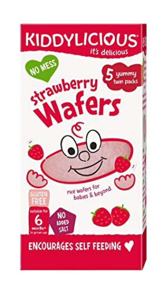 Kiddylicious Strawberry Mini Wafers 5x4g